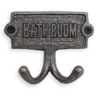 Bathroom Door Sign With Hooks   Accessories